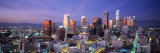 Night  Skyline  Cityscape  Los Angeles  California  USA