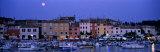 Buildings  Evening  Moonrise  Rovinj  Croatia