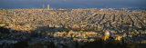 High Angle View of a Cityscape  Barcelona  Spain