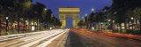 View of Traffic on an Urban Street  Champs Elysees  Arc De Triomphe  Paris  France