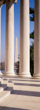 Jefferson Memorial  Columns  Washington Monument  Washington DC  District of Columbia  USA