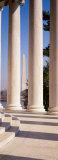 Jefferson Memorial  Columns  Washington Monument  Washington DC  District of Columbia  USA