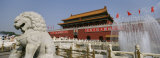 Fountain in Front of Tiananmen Gate  Tiananmen Square  Beijing  China