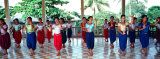 Teenage Girls at Dance Class  Phnom Penh  Cambodia