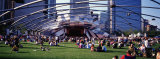 People at a Lawn  Pritzker Pavilion  Millennium Park  Chicago  Illinois  USA