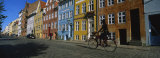 Woman Riding a Bicycle  Copenhagen  Denmark
