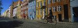 Woman Riding a Bicycle  Copenhagen  Denmark