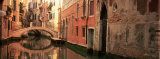 Reflection of Buildings in Water  Venice  Italy
