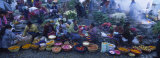 High Angle View of a Group of People in a Vegetable Market  Solola  Guatemala