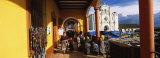 Group of People Walking in a Corridor  San Francisco El Alto  Guatemala