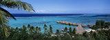 High Angle View of Beach Huts  Kia Ora  Moorea  French Polynesia