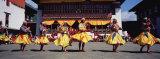 Folk Dancers Dancing at a Festival  Thimphu Tshechu  Thimphu  Bhutan