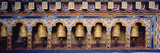 Prayer Wheels in a Temple  Chimi Lhakhang  Punakha  Bhutan