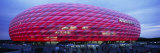 Soccer Stadium Lit Up at Dusk  Allianz Arena  Munich  Germany