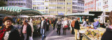 Group of People at a Farmer's Market  Stuttgart  Baden-Wurttemberg  Germany