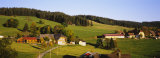 High Angle View of a Village  Black Forest  Baden-Wurttemberg  Germany