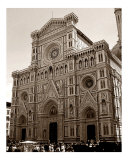 Duomo Cathedral - Firenze  Italy - Sepia