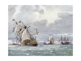 Oil Painting of the Sinking of the HMS Mary Rose