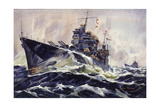 Painting of Cruisers  USS Astoria and USS Phoenix