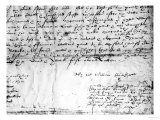 Signature of William Shakespeare  1616