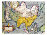Asia: Map of the Continent Including Japan and the East Indies with Part of New Guinea  circa 1580