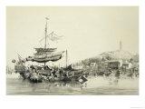 """Hong Shang  Plate 17 from """"Sketches of China""""  1842"""