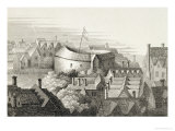The Globe Theatre  circa 1647  Published by Robert Wilkinson  London  1810