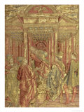 Zacharias Leaving the Temple  Tapestry Depicting Scenes from the Life of St John the Baptist