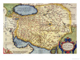 "Map of Persia  from the ""Theatrum Orbis Terrarum""  Pub by Abraham Ortelius Antwerp  circa 1590"