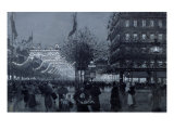 The Grands Boulevards  Paris  Decorated for the Celebration of the Franco-Russian Alliance in 1893