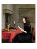 Woman Reading  circa 1662