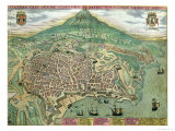 "Map of Catania  from ""Civitates Orbis Terrarum"" by Georg Braun and Frans Hogenberg  circa 1572"