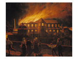Fire at Cambrai Cathedral  9th September 1859