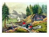 Gold Mining in California  Published by Currier & Ives  1861
