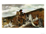 The Hunter and His Dogs  1891