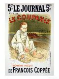 "Reproduction of a Poster Advertising the Novel ""Le Coupable""  by Francois Coppee"