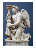 Angel Holding a Candelabra  1495