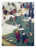 Children Playing on the Frozen River  Detail from the Census of Bethlehem