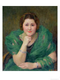 Portrait of a Russian Woman with a Green Scarf