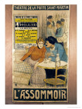 Advertisement L&#39;Assommoir by MMW Busnach and O Gastineau  the Porte Sainte-Martin Theatre  1900