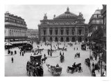 General View of the Paris Opera House  Late 19th Century