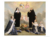 Anne of Austria and Her Children at Prayer with St Benedict and St Scholastica  1646