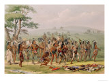 Mandan Archery Contest  circa 1832