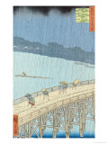 "Sudden Shower on Ohashi Bridge at Ataka  from the Series ""100 Views of Edo""  1857"