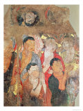 Group of Monks and Buddha  from the Shikshin Monastery  Karashar  9th-10th Century