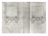 "Two Plans for the First Project for the Louvre  from ""Recueil Du Louvre""  1664"