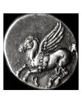 Reverse Side of a Coin Depicting Pegasus  from Corinth  700-300 BC