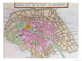 Map of Paris  June 1800
