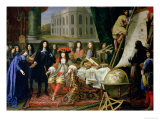 Jean-Baptiste Colbert Presenting Members of the Royal Academy of Science to Louis XIV circa 1667