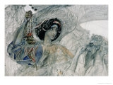"""The Six Winged Seraph  from """"The Prophet""""  by Alexander Pushkin  1905"""